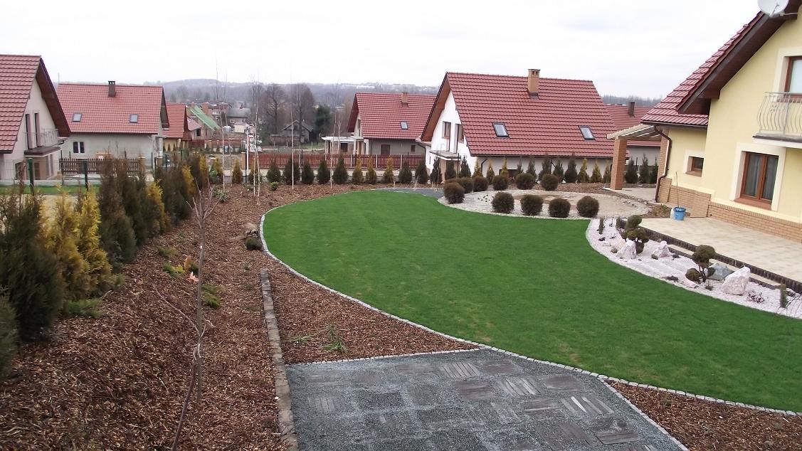 Ogród w Jaworznie zimą